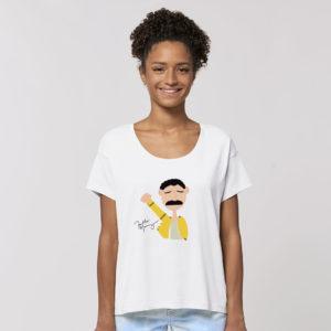 Modelo Freddie Mercury en blanco 3 sisters in law